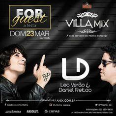 Leo Verão e Daniel Freitas Data: 23/03/2014 Horário: 20h Local: Villa Mix  Todos os eventos de Goiânia no aplicativo Oigoiania para Iphone e Android. http://www.oigoiania.com.br
