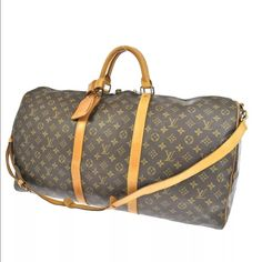 c3037d39f49 Selling this Louis Vuitton Monogram Keepall Bandouliere 60 Bag in my  Poshmark closet! My username