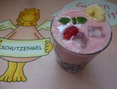 Rosa+Bananensmoothie Pudding, Desserts, Pink, Juice, Raspberries, Recipies, Tailgate Desserts, Deserts, Custard Pudding