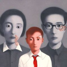 Big Family by Zhang Xiaogang #Chinese #contemporary #art