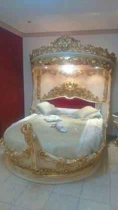 I bet it feels just as magical as it looks   Royal Princess Bedroom    Disney Princess Bedroom Furniture    Princess Room Furniture   Princess Bedroom Ideas For Adults. #princess #Boudoir Delights