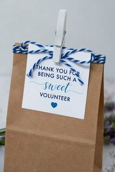Volunteer Gifts Ideas with Printables Thank You Gift Tags