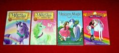 Lot 4 Unicorn Chapter Books Princesses Magic Ages 6-9 Julie Sykes Emily Bliss Chapter Books, Book Girl, Princesses, Bliss, Unicorn, Magic, Girls, Painting, Toddler Girls