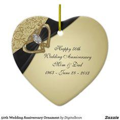 50th Wedding Anniversary Ornament