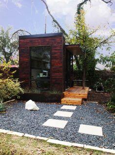 A little garden summer house/guest house . . .  small-studio-austin