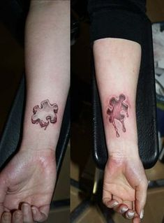 i'm all for couples tattoos but the one is kinda creepy