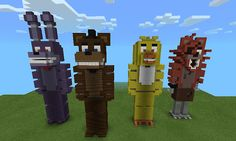 Five night's at Freddy's that's so cool im going to make these in my world im good at building things <- -> B ~