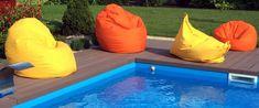 Kültéri babzsákfotelek a medence partján - Élvezd a friss levegőtbabzsákfotelben! Outdoor Decor, Home Decor, Decoration Home, Room Decor, Interior Decorating