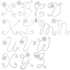 Alphabet Embroidery Patterns from Women's Work Basket