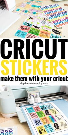 How to Make Stickers with your Cricut +Free Sticker Layout Templates Learn how to make the most beautiful and adorable stickers with your Cricut Maker or Explore in this step by step tutorial. Informations About Ho Cricut Explore Projects, Cricut Explore Air, Cricut Air 2, Cricut Vinyl, Cricut Fonts, Vinyl Decals, How To Make Stickers, Making Stickers, Cricut Craft Room