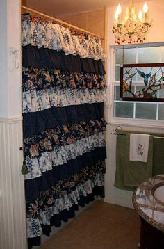 Custom Made Ruffled Shower Curtains