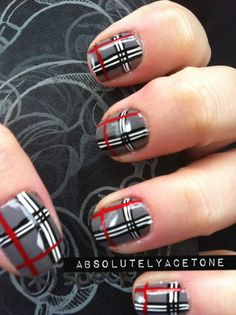 plaid nails | Tumblr