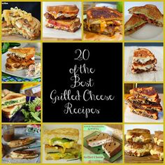 20 Grilled Cheese Sandwiches to Celebrate Grilled Cheese Month!