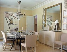 Houston Dining Room with a French Bistro Mirror