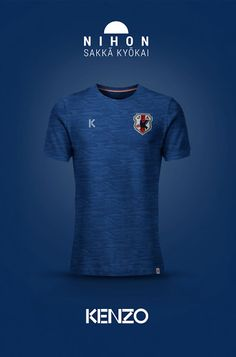 a prototype of japan national football team shirt by KENZO