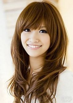 Cute Long Hairstyles Enchanting Cute Long Hairstyles With Bangs And Layers For Oval Faces Asian