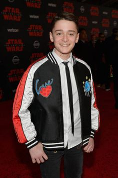 Noah Schnapp attends the premiere of Disney Pictures and Lucasfilm's 'Star Wars The Last Jedi' at The Shrine Auditorium on December 9 2017 in Los...