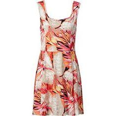 03ddf68145 Dżungla na ubraniach - inspiracje z wybiegu. Nyári Ruhák. Sukienka  BODYFLIRT - bonprix