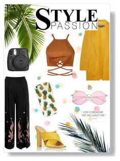 """""""style passion"""" by grassgrvsk ❤ liked on Polyvore featuring Temperley London, Fujifilm, Gianvito Rossi and Rochas"""