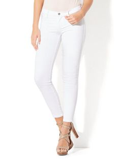 Shop Soho Jeans - Ankle Legging - Optic White. Find your perfect size online at the best price at New York & Company.