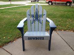 Dallas Cowboys adirondack chair I painted for my husband.