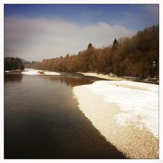 Die Isar im Winter bei Projekt Draussen.
