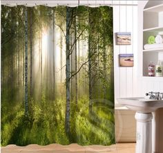 Birch forest Personalized Custom Shower Curtain Bath Curtain Waterproof  MORE SIZE  SQ0422 LQB53-in Shower Curtains from Home & Garden on Aliexpress.com | Alibaba Group
