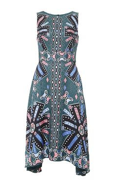 Silk printed sleeveless midi dress by PETER PILOTTO Available Now on Moda Operandi