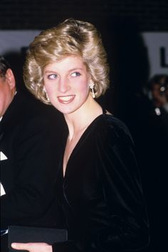 "October 10, 1985: Princess Diana at the gala opening of ""Les Miserables "" at the Barbican Centre."