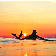 #surfer #sunset #beach