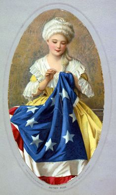 Betsy Ross sewing the American Flag. c. 1909 Source: Library of Congress American Revolution For Kids, Pictures Of Flags, First American Flag, American Pride, Hot Dog Bar, Happy Fourth Of July, July 4th, Sewing Art, Xmas