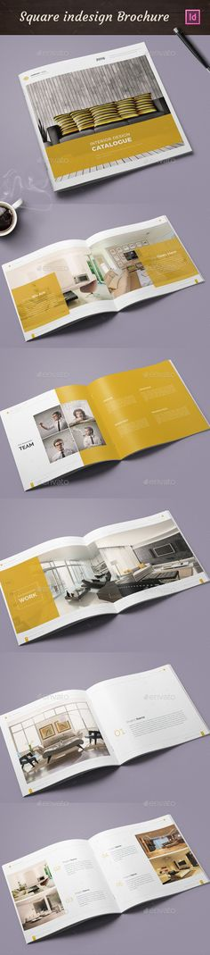 Square Portfolio Catalogue Template InDesign INDD. Download here: http://graphicriver.net/item/square-portfolio-catalogue/15740305?ref=ksioks