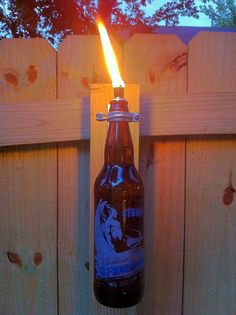 Beer bottle torch. Our Dank Tank 22's would be perfect for this project.