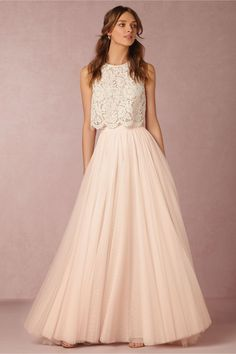 Amora Skirt in Bride at BHLDN