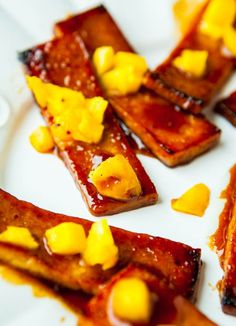 @Rachel G this is what's for dinner tomorrow.    Barbeque Tofu with Pineapple and Mango - Dinner
