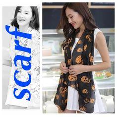Buy 2 get 3 FREE! Black & orange skull Scarf. NWT. NWT Accessories Scarves & Wraps