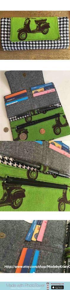 Vespa scooter print wallet  https://www.etsy.com/listing/278753420/fiona-wallet-womens-wallet-folding