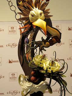 chocolate sculpture at the world chocolate masters competition Chocolate Week, Chocolate World, Chocolate Art, Like Water For Chocolate, Divine Chocolate, Chocolates, Choco Loco, Marzipan, Chocolate Showpiece