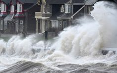 Waves crash against the promenade wall in Prestwick, ScotlandPicture: Jeff J Mitchell/Getty Images  12/11/14