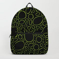 Organic - Lime Green Backpack by laec | Society6