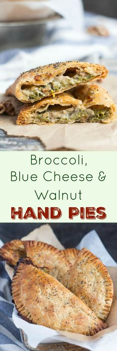 Broccoli, Blue Cheese and Walnut Hand Pies. A great savoury on-the-go snack.
