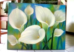 WOW!!! White Cala lilies Flower Paintings