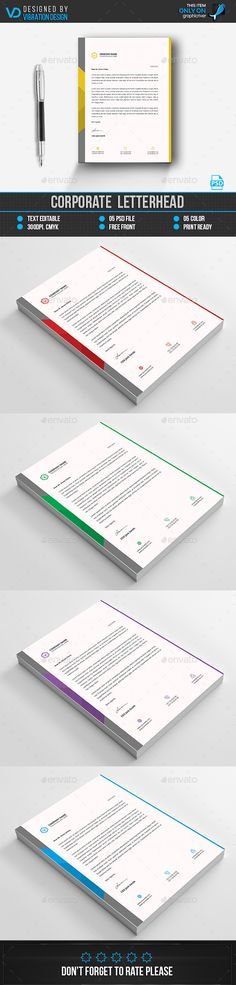 Corporate LetterheadDownload here    graphicrivernet item - corporate letterhead
