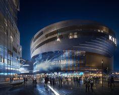 libeskind tampere central deck and arena finland designboom