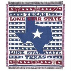 New Texas The Lone Star State of Afghan Tapestry Throw Blanket Texan Gift Flag