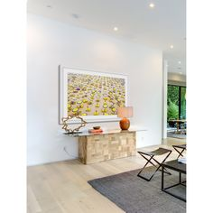 Marmont Hill - 'Yellow Umbrellas' Framed Painting Print | Overstock.com Shopping - The Best Deals on Framed Prints