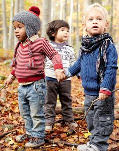 Jeans, layers and scarves are great, but every boy needs a stick to play with.