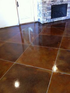 Stained concrete - would be great in areas with pets