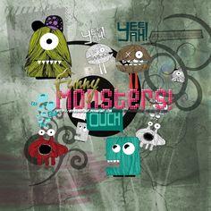 Funny Monsters PNG by MyDesireForAT.deviantart.com