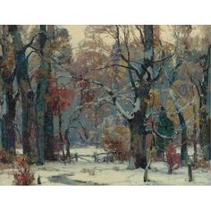 """""""Forest Peace,"""" John F. Carlson, ca. 1930, oil on canvas, 40 x 52"""", private collection."""